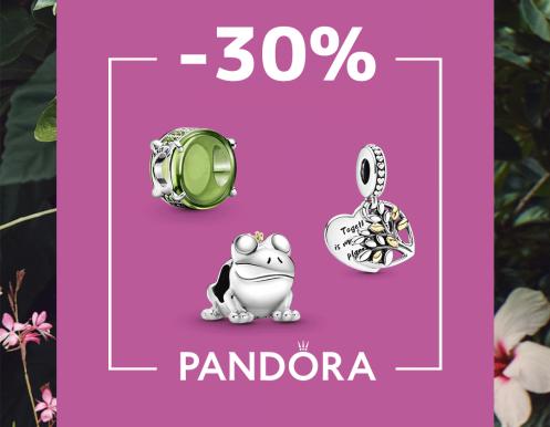 Украшения со скидкой 30% в Pandora